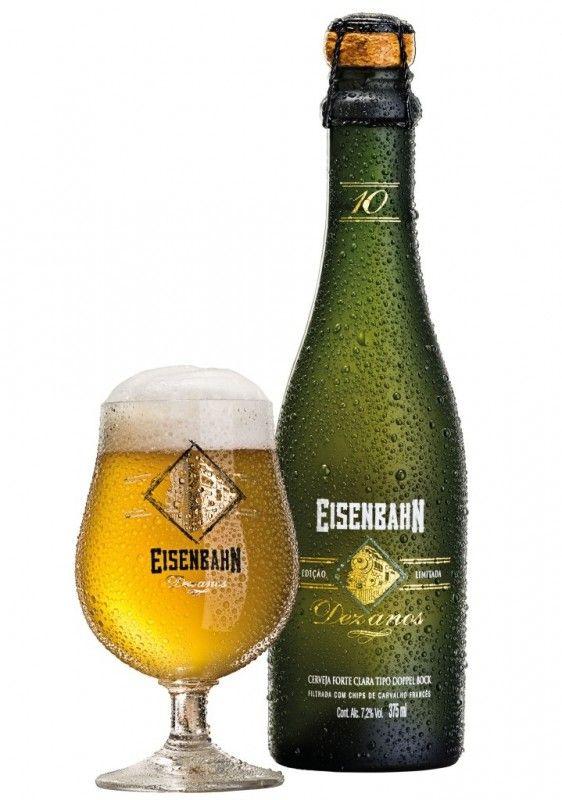 Cerveja Eisenbahn 10 Anos, estilo Doppelbock, produzida por Cervejaria Sudbrack, Brasil. 7.2% ABV de álcool.