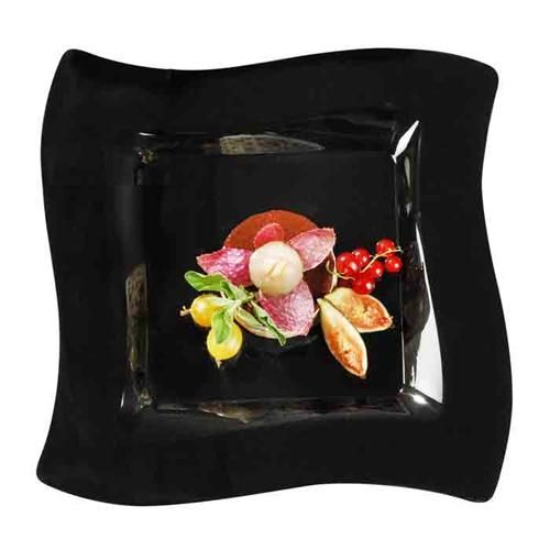 save on nice fancy wavetrends cute black plastic china like salad plates that look pretty real for holiday catering u0026 weddings on a budget