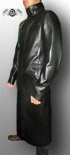 Продаю мужской кожаный плащ