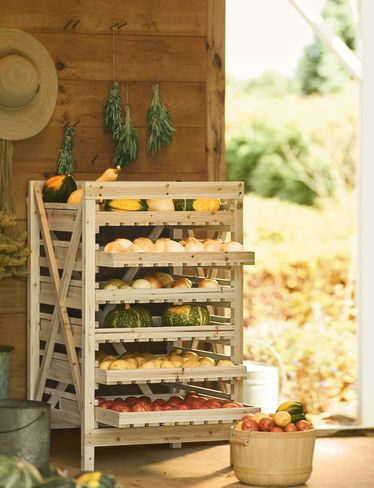Orchard Rack, 6 Drawer, For storing crops such as potatoes, onions, squash, etc., $150