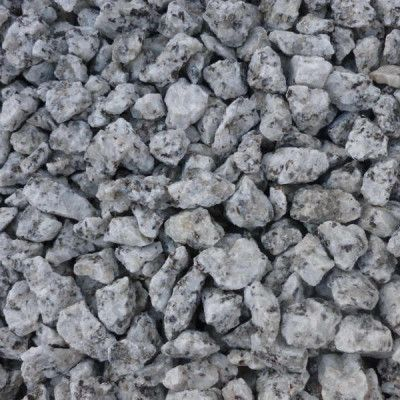 Angular Silver Grey White Granite Pieces With Black