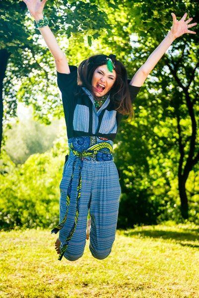Spodnie blue print w maiko na DaWanda.com Fot. Agni Kliczka.