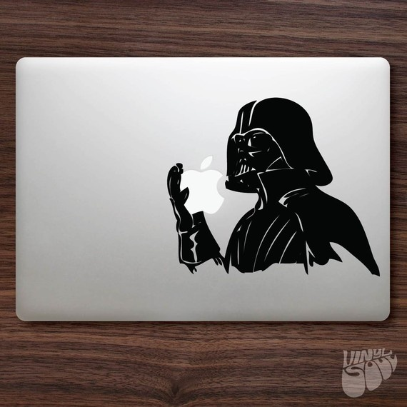 Creative and funny macbook stickers darth vader macbook decal sticker