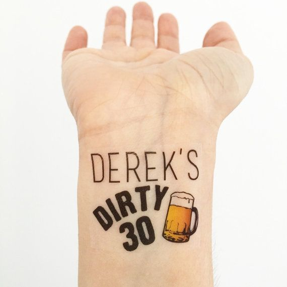 17 best images about dirty 30 on pinterest 30 years for Vulgar temporary tattoos