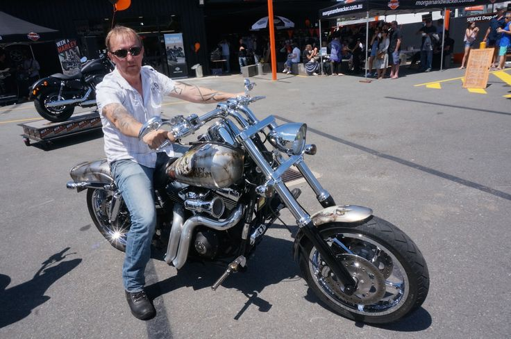 Barry Lister won best Dyna in the show and shine at the Gold Coast Harley-Davidson grand opening. Read all about it at http://motorbikewriter.com/harley-883-iron-dealership/