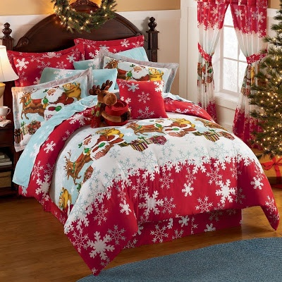 Bedroom Decor Ideas and Designs: Christmas Holiday Bedding Ideas