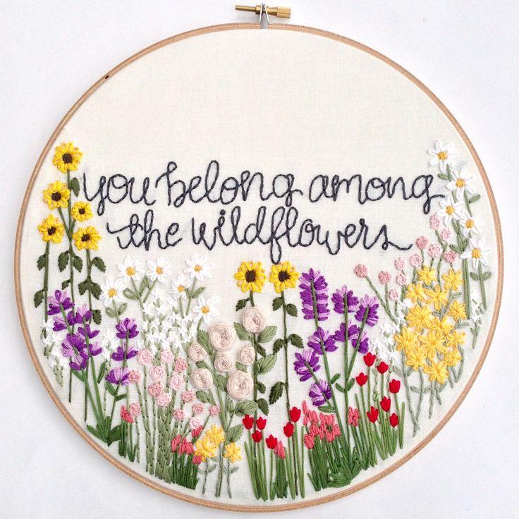 Knotty Dickens, Embroidery Hoop, Hoop of Blooms (3)