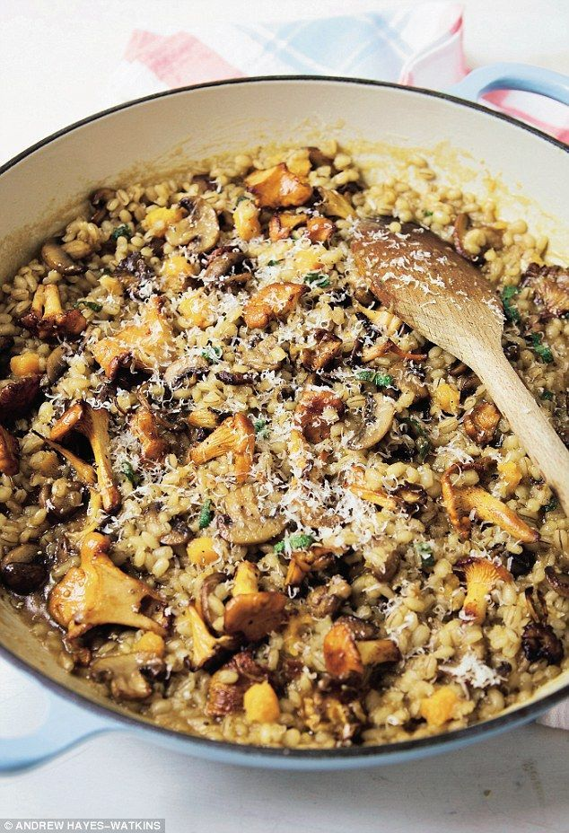 Davina McCall: Barley risotto with mushrooms and butternut squash  | Daily Mail Online
