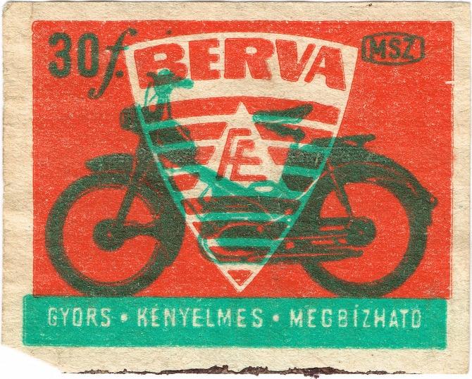 023 berva - Hungarian Matchbox Archive