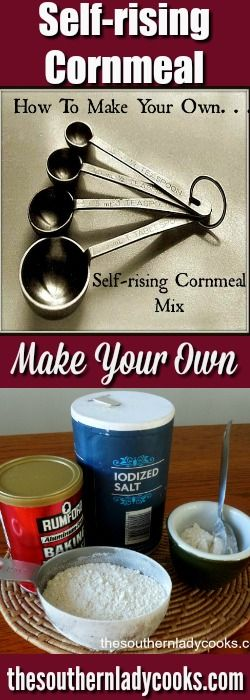 This food tip on how to make your own self-rising cornmeal mix will come in very handy. #DIY #hacks