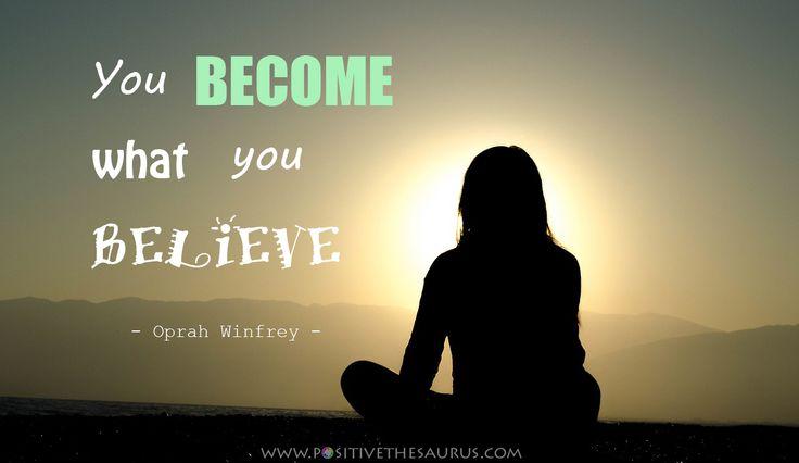 Inspirational quote by Oprah Winfrey www.positivethesaurus.com #positivesaurus #positivewords #positivequotes #positivethinking #oprahwinfrey #sunset