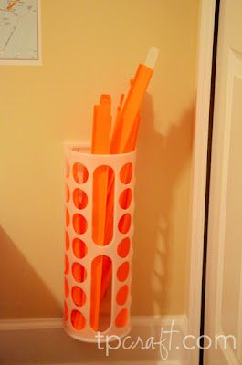 Great storage for the kids Darda (cars) tracks - ikea plastic bag holder