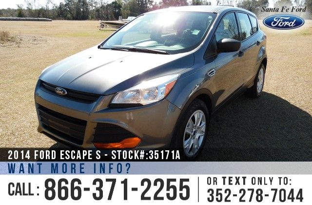 2014 Ford Escape S - Sport Utility Vehicle - I4 2.5L Engine - Steel Wheels - Tinted Windows - Safety Airbags - Powered Windows/Locks/Mirrors - Seats 5 - AM/FM/CD - iPod/Aux/USB Ports - Bluetooth - SYNC by Microsoft - Backup Camera - Cruise Control - Remote Keyless Entry - Digital Compass - Outside Temperature Display and more!