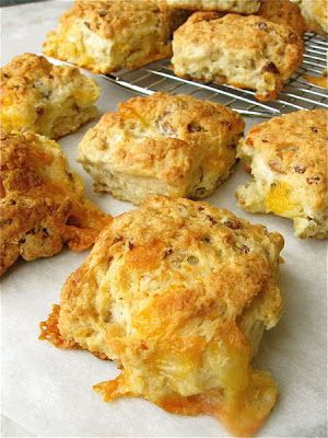 The original sausage cheese biscuit - I made these for breakfast this morning, and they were excellent! Instead of using regular sausage links, I cut up some turkey sausage patties to reduce the calorie count a bit. Yum!!!