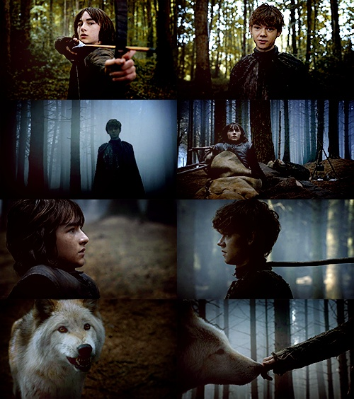 Bran, Jojen Reed and Summer