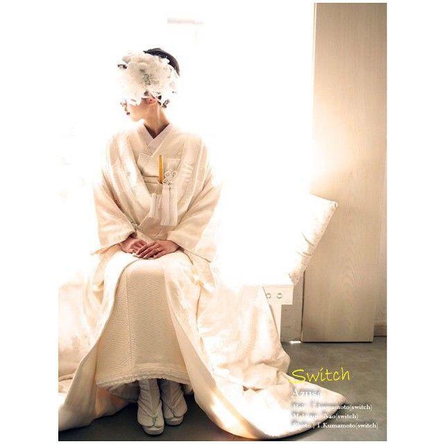 すっごくいい写真 photo × hair  kumamoto make  @nao_0120  #前撮り#白無垢#ギザギザbangs#photokumamoto#switch#switchnao#azusa結婚式