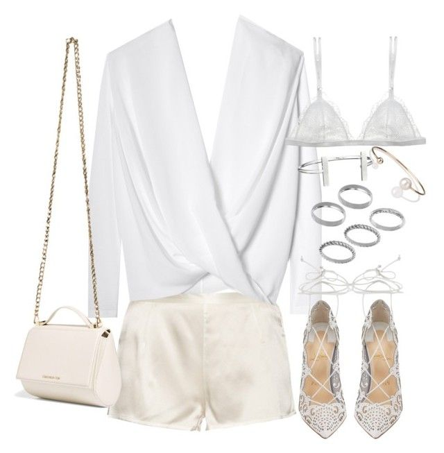 """""""Sem título #1245"""" by oh-its-anna ❤ liked on Polyvore featuring La Perla, Givenchy, Christian Louboutin, Curriculum Vitae, French Connection, ASOS and Letters By Zoe"""