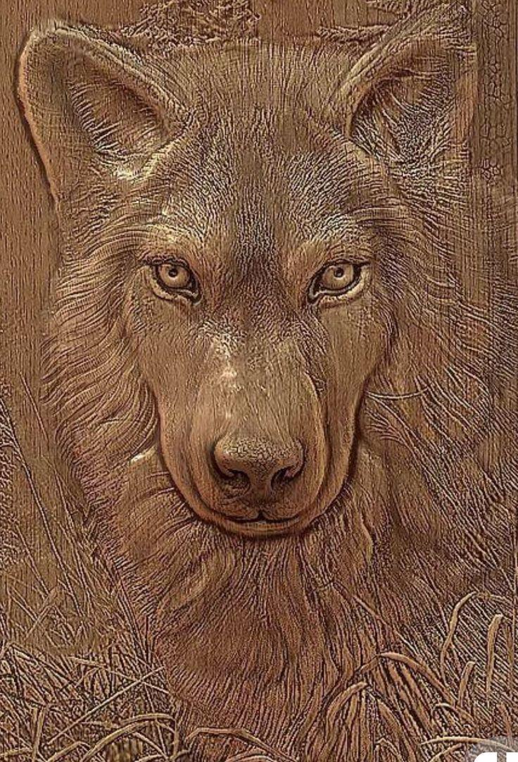 давних картинки для резьбы по дереву с волками очень внимательны