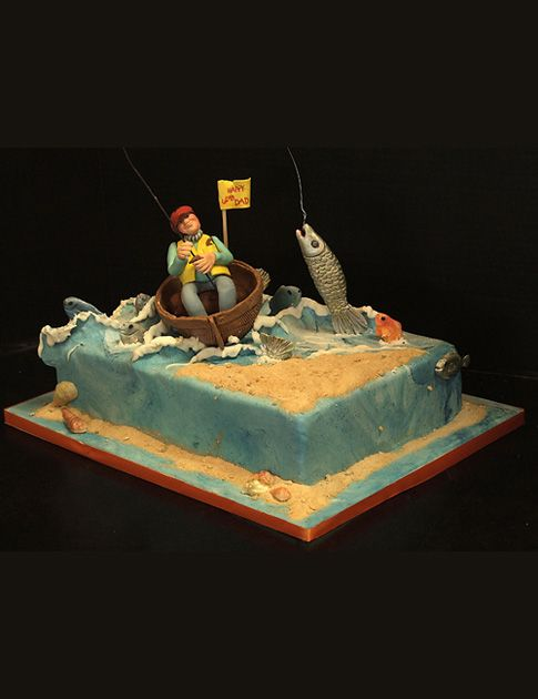 ... Cakes - Fish/Fishing on Pinterest | Gone fishing, Dolphin cakes and