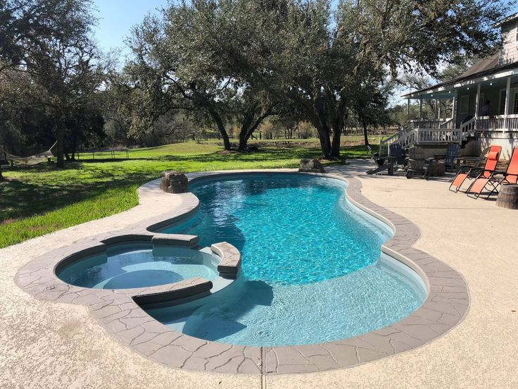 Congratulations to the family that had Shiner Pools put in