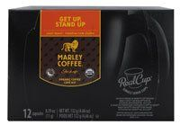 Marley Coffee Get Up Stand Up Single Serve Organic Coffee Light Roast -- 12 K-Cups $7.99