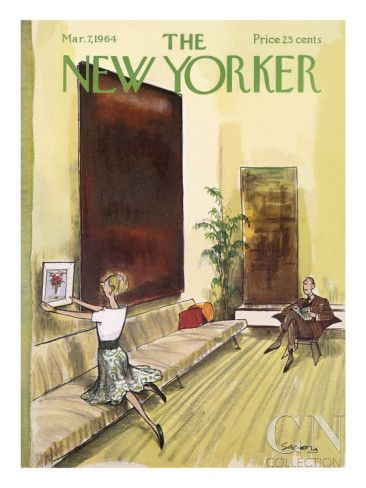 The New Yorker Cover - March 7, 1964 Poster Print by Charles Saxon at the Condé Nast Collection