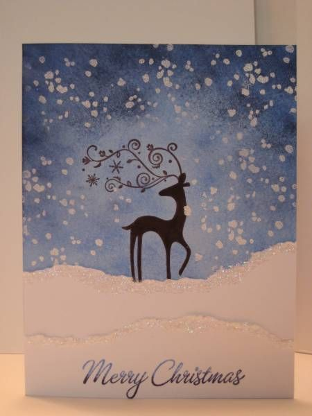 Dasher in a Blizzard by dbarry - Cards and Paper Crafts at Splitcoaststampers