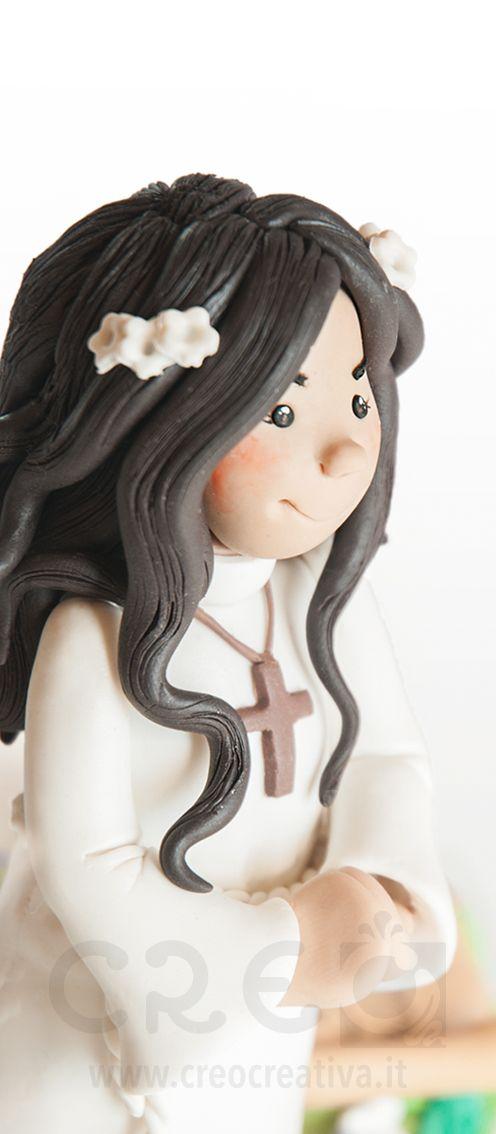 #CakeTopper per racchiudere il #ricordo della #PrimaComunione. #creo #topper #personalizzato #toppercake