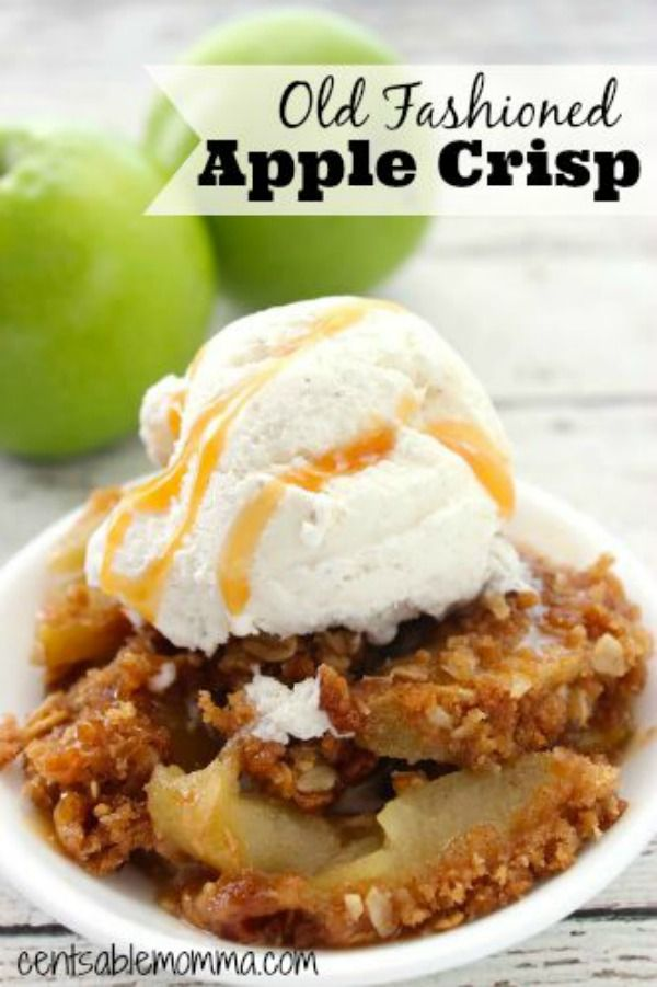 It's apple picking season, which means fresh apples for recipes like this one for the best Old Fashioned Apple Crisp with oatmeal.
