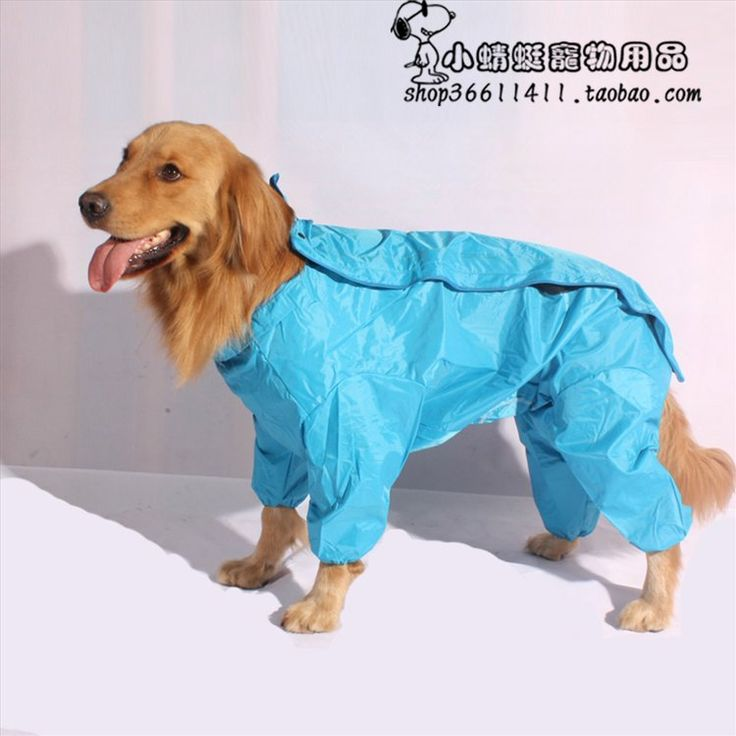 Dog waterproof clothes sports clothing large dog clothes pet clothes dog raincoat autumn and winter $15.46