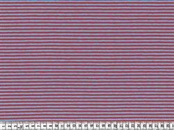 Stof - Stræk jersey; Smalle striber, aqua/rød pr. 0,25 m. - STOF og STUFF - kreativ livsstil | Stof, metervarer og tekstiler.