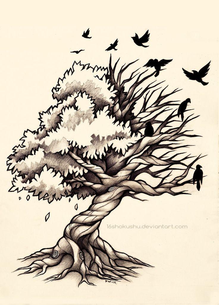 Life and Death Tree - Commission by 16Shokushu.deviantart.com on @deviantART