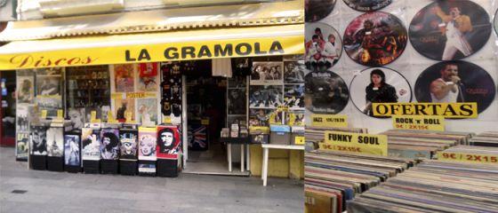 Discos La Gramola http://unserenotransitandolaciudad.com/2013/10/23/tiendas-de-discos-de-vinilo-en-madrid/