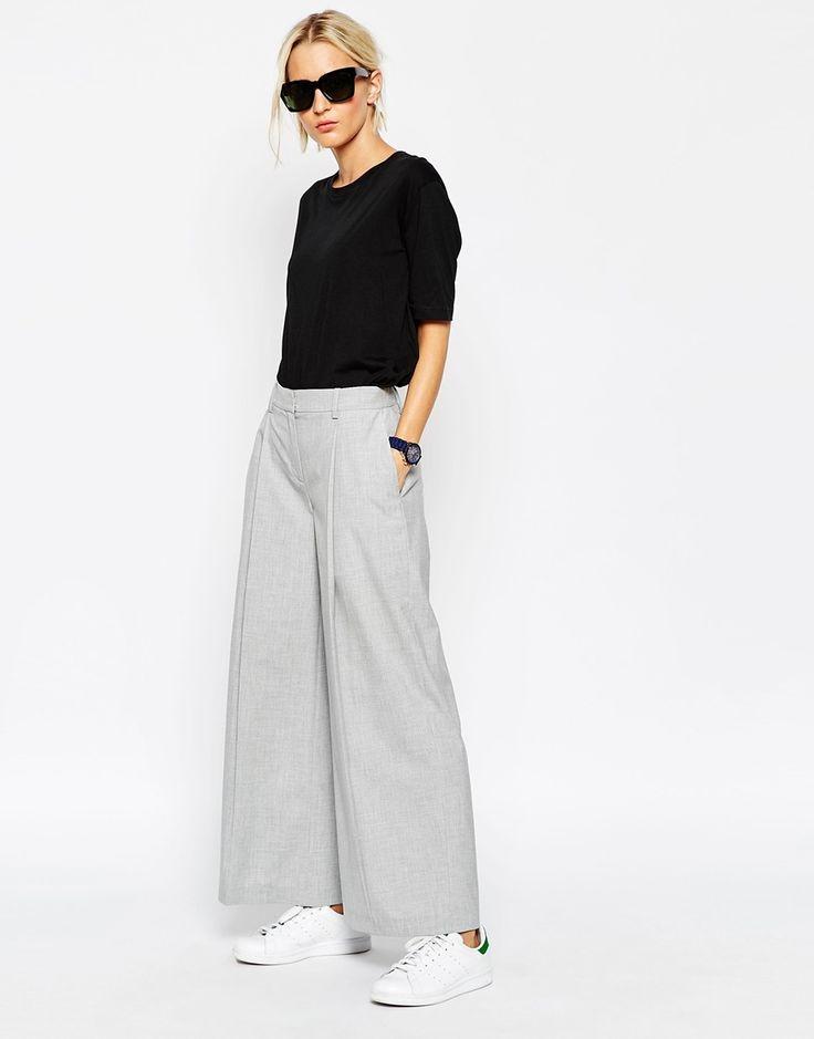 ASOS WHITE Extra Wide Leg Trousers