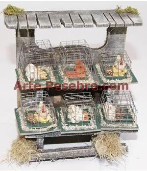 Arte Pesebre - Puesto jaulas