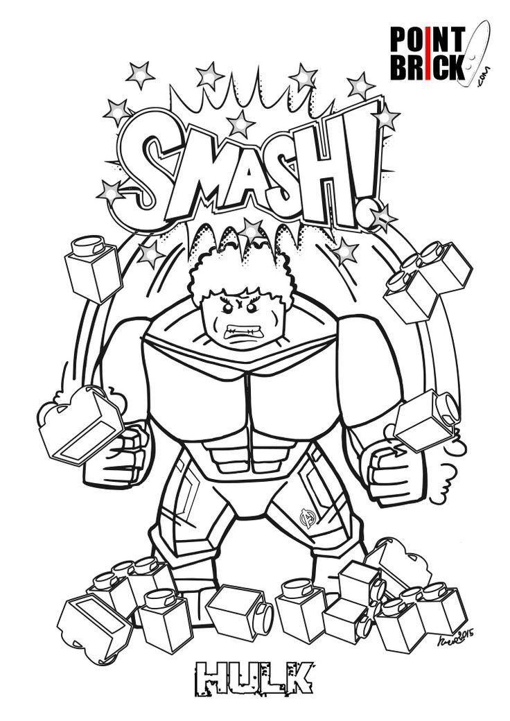 Disegni da Colorare LEGO Marvel Super Heroes - The Hulk - Clicca sull'immagine per scaricarla gratuitamente!