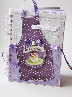 Cute for a recipe page or recipe journal.  Or maybe a journal for apron…
