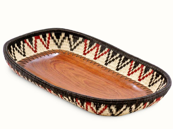 Werregue and Wood Basket