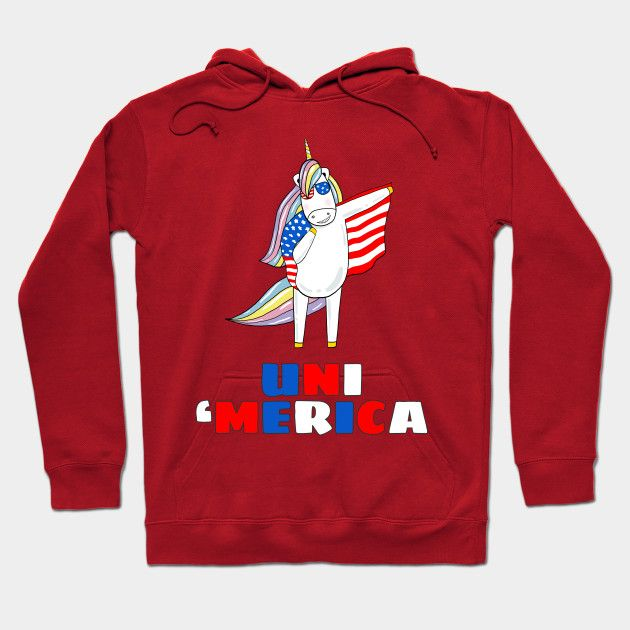 Uni 'Merica 4th Of July Unicorn  Memorial Day Funny T-shirt