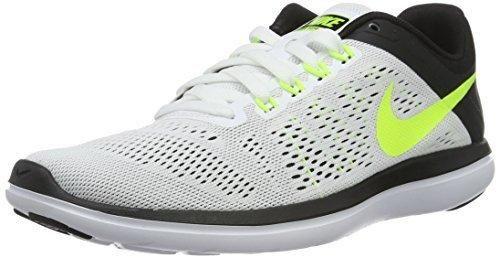 Nike Mens Flex 2016 Rn Running Shoe (11 D(M) US White/Volt Black)