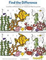 Under-the-Sea Find the Difference | Visual Discrimination Activity for Kids https://www.teachervision.com/early-learning/printable/74008.html