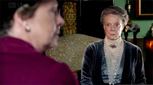 Isobel gets the Violet stare on Downton Abbey Season 3 Episode 1