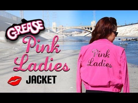 DIY Grease Pink Ladies Jacket    Lucykiins - YouTube