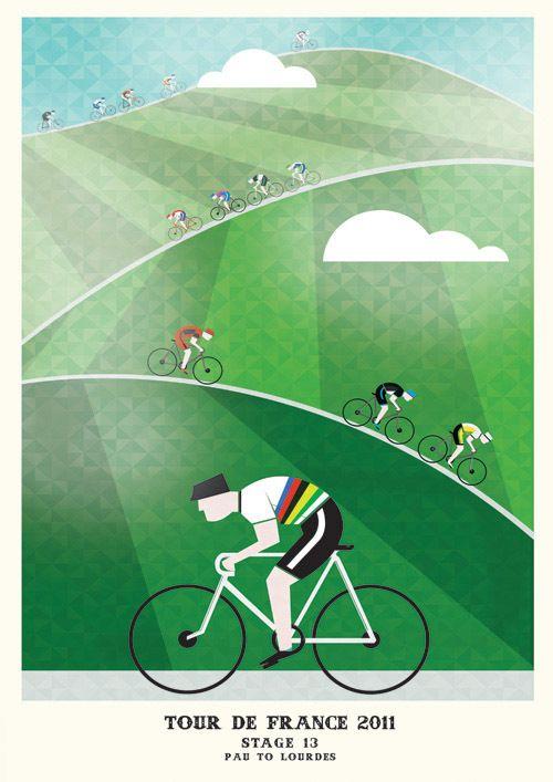 Tour de France Prints (Stages 11-15) by Neil Stevens, via Behance