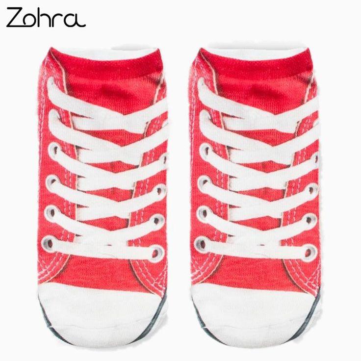Canvas shoes Graphic 3D Full Print Women's Men Girls Cute Unisex Low Cut Ankle Socks Multiple Colors Cotton sock Casual Hosiery