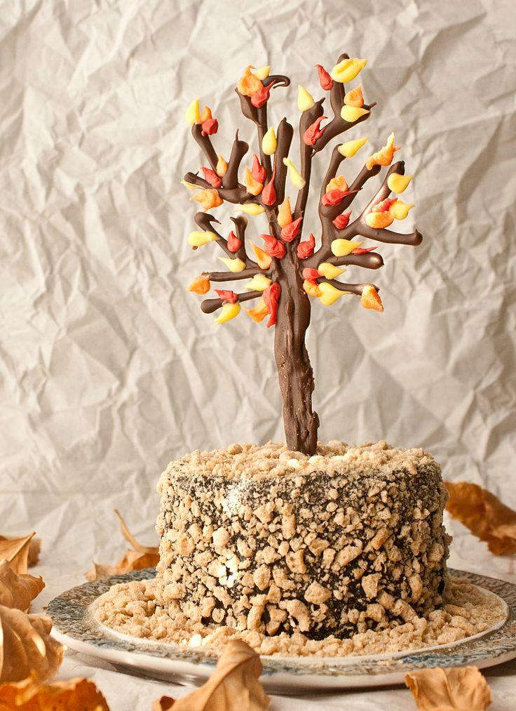 How to make a chocolate tree cake topper • CakeJournal.com