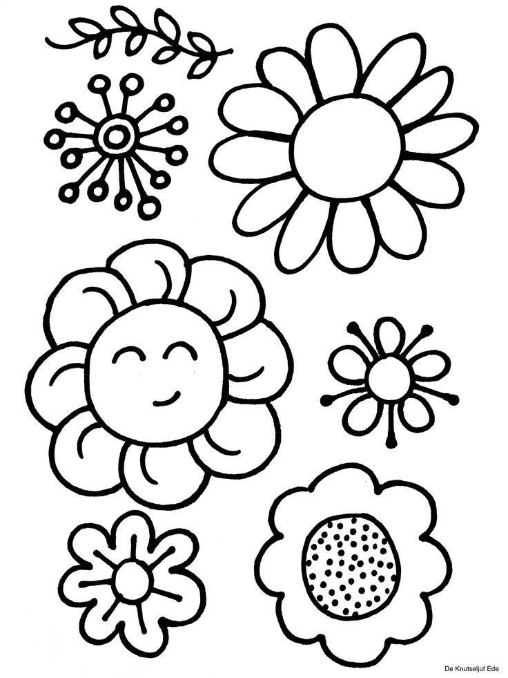 kleurplaten bloemen kleurplaten kleurplaat