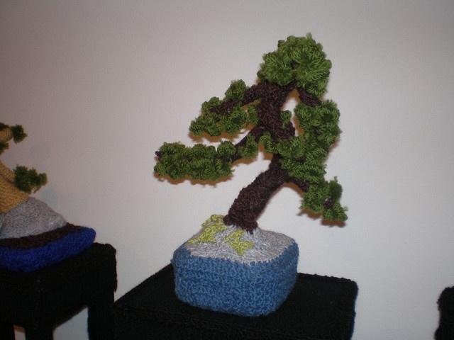 crochet bonsai by ninjaspew, via Flickr