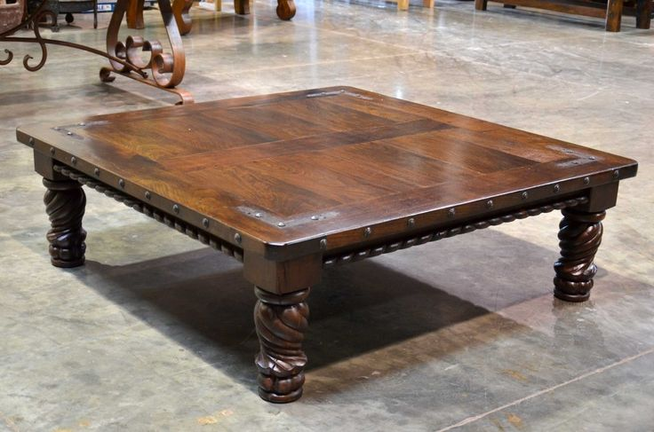 The Indonesia Coffee Table Cuadrada Is A Square Top Carved Coffee Table Made From Mesquite Wood