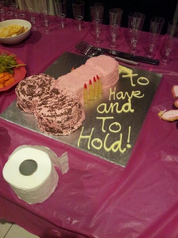 decorating Penis cake